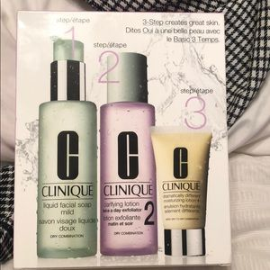 Clinique face wash set
